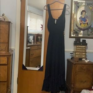 Free People Navy Blue Jumpsuit w/ Gold Buttons